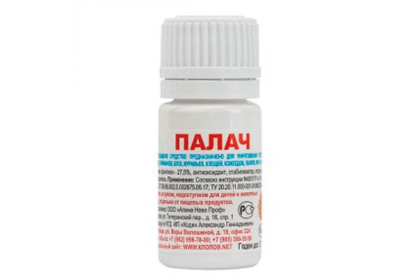 Действующее вещество в нем - фентион, концентрация во флаконе - 27,5%.